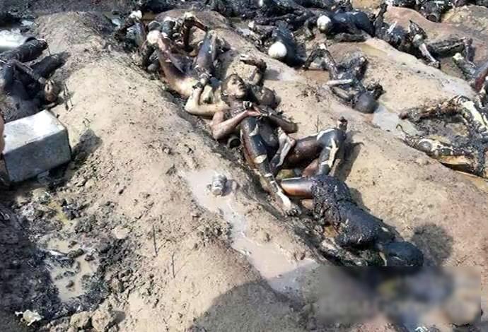 【閲覧注意・速報】150人近くが死んだパキスタンのタンクローリーの事故現場が地獄すぎる・・・(画像)・2枚目