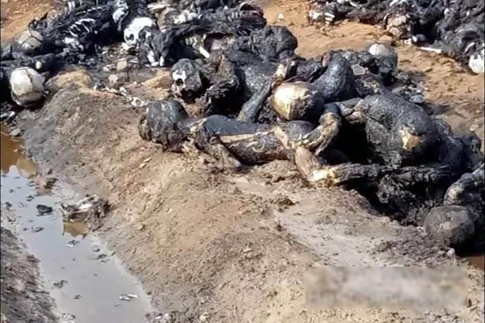 【閲覧注意・速報】150人近くが死んだパキスタンのタンクローリーの事故現場が地獄すぎる・・・(画像)・5枚目