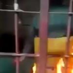 【衝撃】刑務所の牢屋で焼身自殺を図ったお婆さんの映像、すごい。(動画)