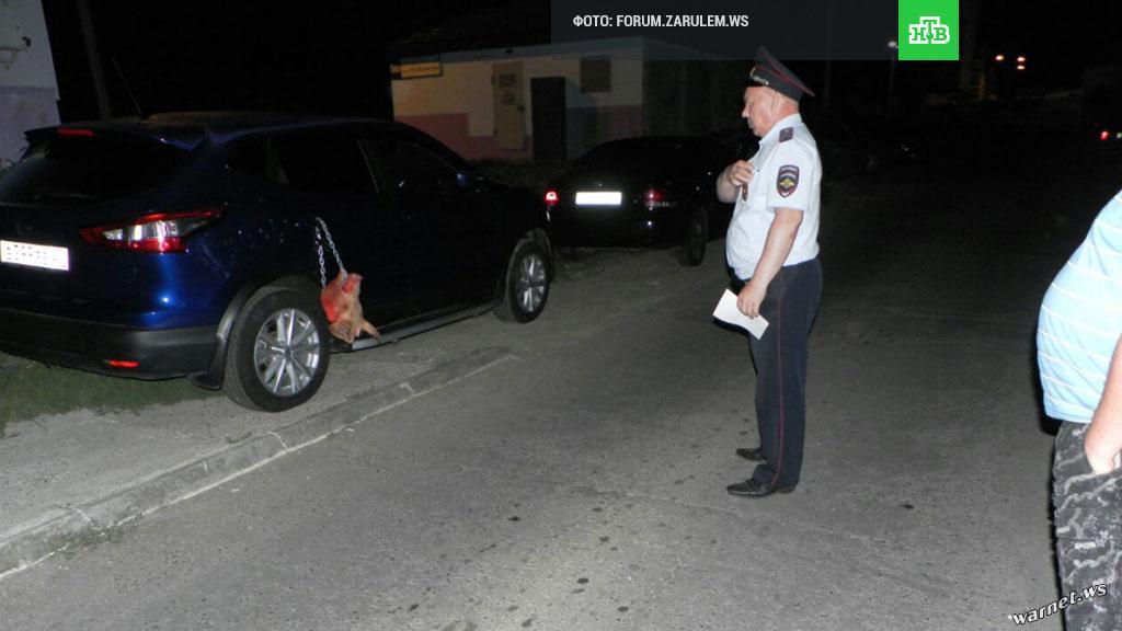 【閲覧注意】駐車違反の車さん、とんでもない嫌がらせを受ける。これがロシアの日常。(動画)・1枚目