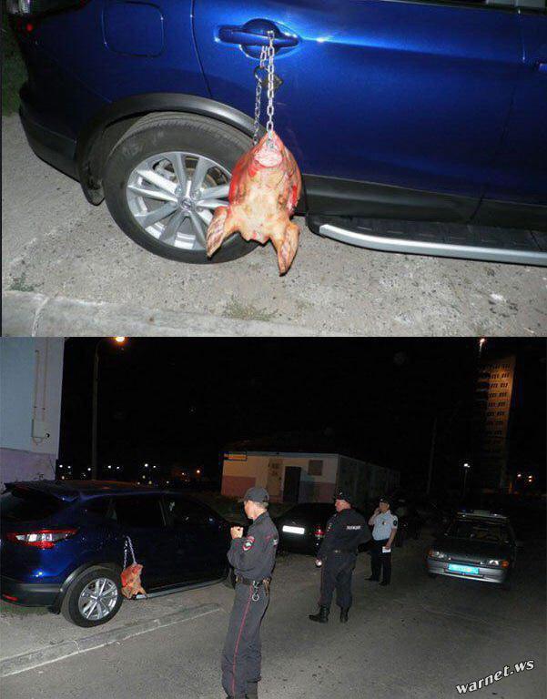【閲覧注意】駐車違反の車さん、とんでもない嫌がらせを受ける。これがロシアの日常。(動画)・5枚目