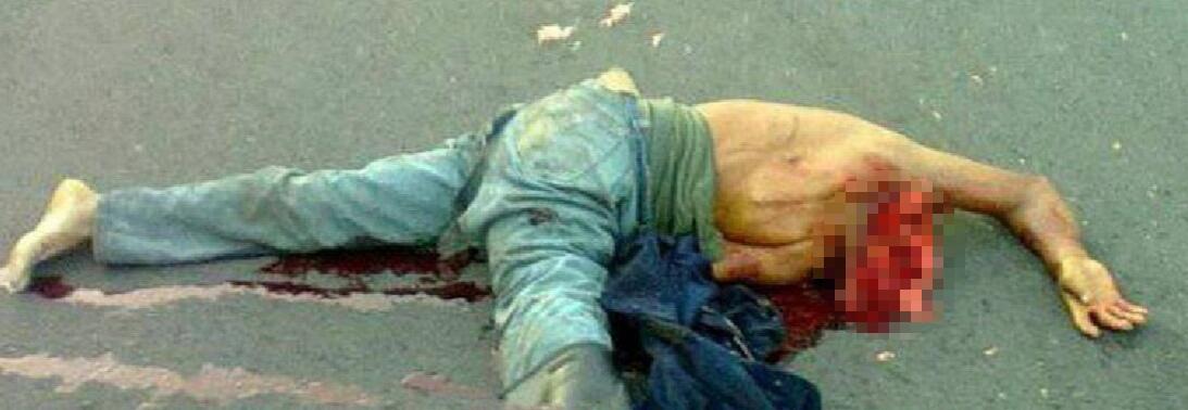 【超・閲覧注意】苦痛のまま死んだ男の顔・・・(画像)・1枚目