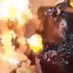 【衝撃】盛大な誕生日会で派手に燃える女性2人。コレは記憶に残るわ・・・(動画)