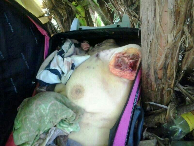 【閲覧注意】スーツケースの中から発見されたコンパクトな女性。。(画像)・3枚目