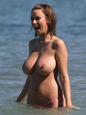 【驚愕】ヌーディストビーチに降臨した「爆乳女子」これはエロい。(画像)・7枚目