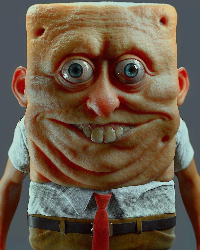 【怖過ぎ】3Dアーティストが本気で描いたアニメキャラ、これ子供泣くだろ・・・・・(画像)・2枚目