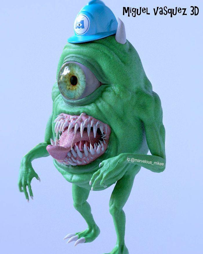 【怖過ぎ】3Dアーティストが本気で描いたアニメキャラ、これ子供泣くだろ・・・・・(画像)・6枚目