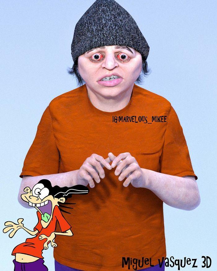 【怖過ぎ】3Dアーティストが本気で描いたアニメキャラ、これ子供泣くだろ・・・・・(画像)・13枚目