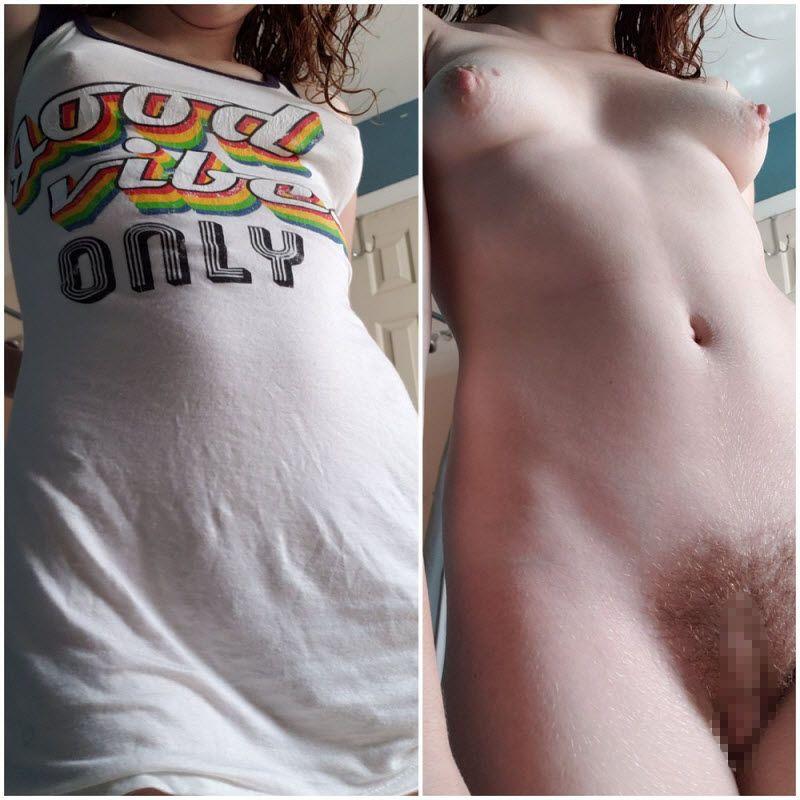 【リアリティ】海外まんさんの着衣ヌード比較画像、生々しくてオナニー捗るよな!!・11枚目