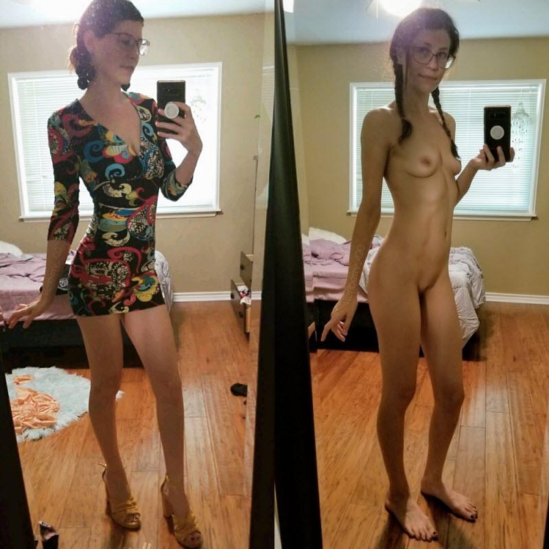 【リアリティ】海外まんさんの着衣ヌード比較画像、生々しくてオナニー捗るよな!!・12枚目