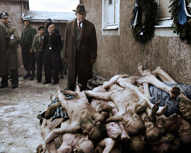 【リアル】カラー着色されたドイツ軍によるユダヤ人大量虐殺(ホロコースト)の写真、絶望感ヤバい・・・・・(画像)・8枚目