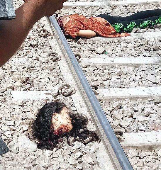 【閲覧注意】詳細不明、列車に轢かれて首チョンパの外人女性・・・・・合掌(画像)・1枚目