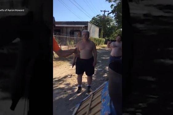 【衝撃】アメリカのご近所トラブル、ごみ捨てを巡って父子が隣人をショットガンで射殺!!(動画)・1枚目