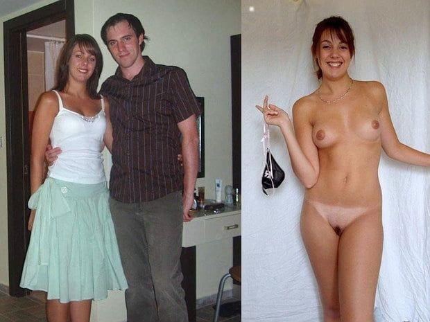 【着衣比較】一般的な普通の白人BBAさんの着衣ヌード比較画像、真面目そうなのほどエロいな・・・(画像)・3枚目
