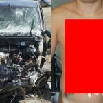 【衝撃】時速100㎞で事故った男性、シートベルトで辛うじて命を救われる!!(画像)