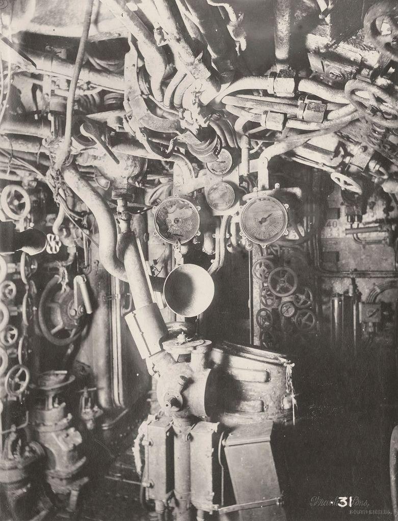 【ドイツの科学力】第一次世界大戦時のドイツのUボート110型、バルブの数スゲーーーーー(画像)・8枚目
