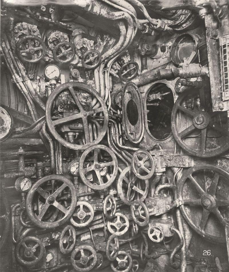 【ドイツの科学力】第一次世界大戦時のドイツのUボート110型、バルブの数スゲーーーーー(画像)・11枚目