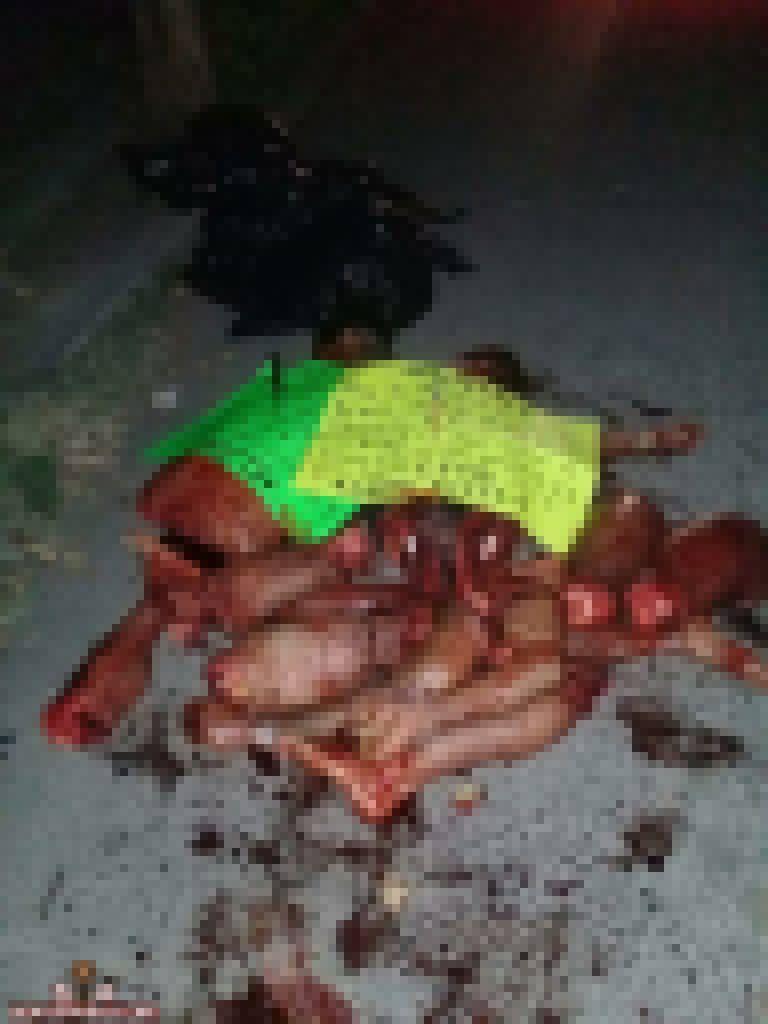 【メキシコの日常】メキシコのギャングメンバーさん、ライバルグループにとんでもない殺され方される・・・・(画像)・1枚目