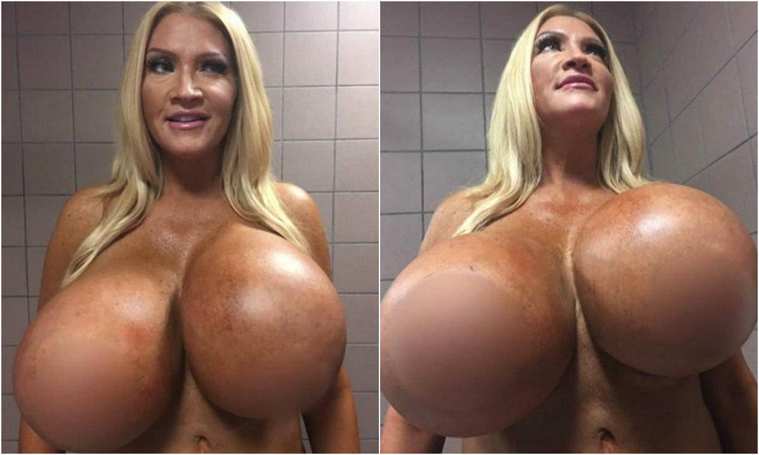 【超爆乳】年齢48歳の超インプラントおっぱいを持つ外人モデル、やり過ぎだろ・・・・・(画像)・1枚目