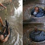 【素手特攻】バングラディシュの下水道掃除、ゴーグルすらないのかよ・・・・・・(画像)