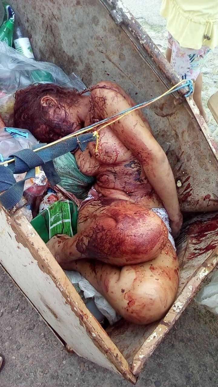 【閲覧注意】ブラジルの若い女性、ヤラれて路上のごみ箱に捨てられる・・・・・(画像)・2枚目