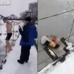 【悲劇】ベラルーシの寒中水泳ニキ、橋の上から凍った川に飛び込んだ結果・・・・・(動画)