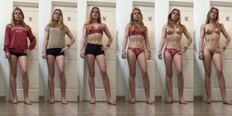 【着衣ヌード比較】自意識高めな外国人まんさんの着衣ヌード比較画像!!(画像)・11枚目
