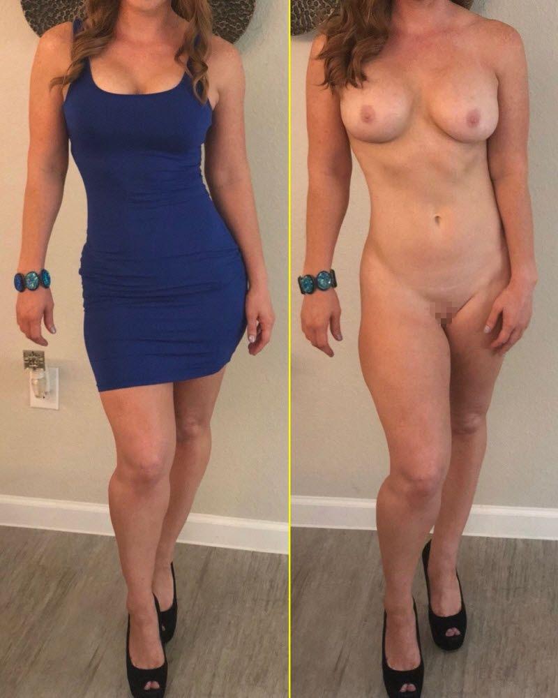 【着衣ヌード比較】自意識高めな外国人まんさんの着衣ヌード比較画像!!(画像)・17枚目