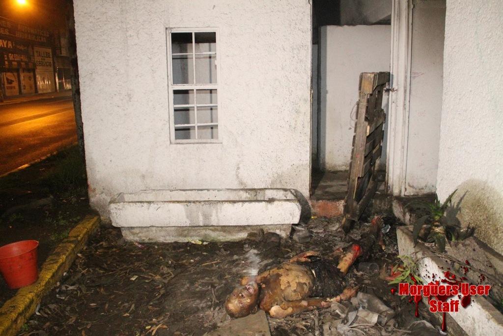 【衝撃】焼死したメキシコのホームレス、遺体の口から魂のようなモノが出てると話題に・・・・・(画像)・2枚目