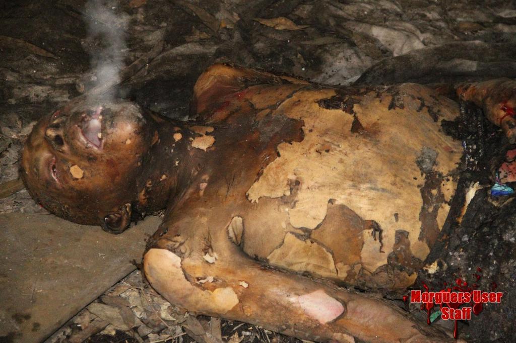 【衝撃】焼死したメキシコのホームレス、遺体の口から魂のようなモノが出てると話題に・・・・・(画像)・5枚目