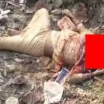 【グロ注意】崖下に放置された女性の遺体、一体何があったんだ・・・・・(動画)