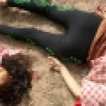 【首チョンパ】インドで鉄道のレールに横たわって自殺した女の子、遺体がキツ過ぎる・・・・・(画像)