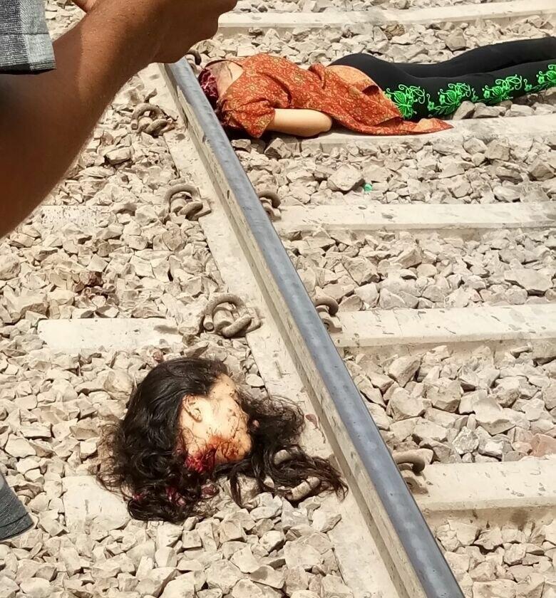 【首チョンパ】インドで鉄道のレールに横たわって自殺した女の子、遺体がキツ過ぎる・・・・・(画像)・2枚目