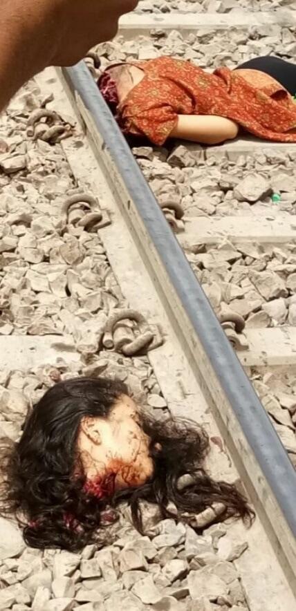 【首チョンパ】インドで鉄道のレールに横たわって自殺した女の子、遺体がキツ過ぎる・・・・・(画像)・3枚目