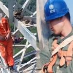 【玉ヒュン】地上50メートルの鉄塔で作業中に居眠りする中国人、心臓強すぎだろ!!(動画)