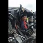 【不死身】タイで起こった交通事故、これ運転手どうやって生き残ったんだ・・・・・(動画)