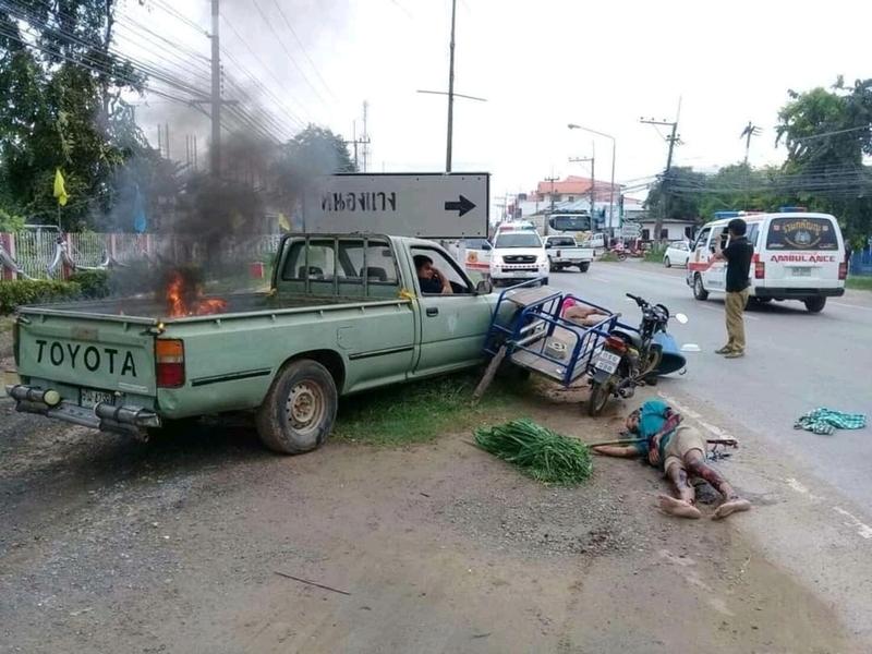 【グロ注意】タイで起こった壮絶な事故現場の画像が・・・・・ってフェイクかよ!!(画像)・1枚目