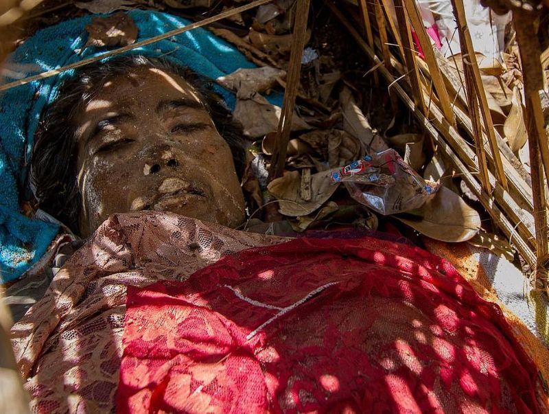"""【自然派】インドネシア バリ島のトルニャン村に伝わる""""風葬""""という埋葬方法、凄い光景・・・・(画像)・1枚目"""