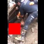 【グロ注意】巨大な落石に見舞われたトルコ人男性、ぺっしゃんこに潰される・・・・・(画像)