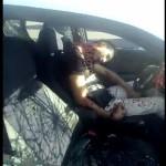 【恐ロシア】白昼堂々襲われたロシアのカップル、彼氏は即死でも彼女は何とか逃げ出して無事!!(動画)