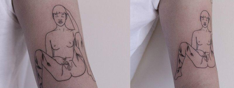 【手マン多し!】一生モノのタトゥーで下ネタぶっ込んでくる外人さん、心臓強すぎだろ!!(画像)・10枚目