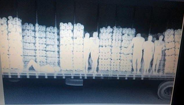 【密入国摘発】メキシコからの不法移民35名、X線スキャンを知らずに一網打尽になる・・・・・(画像)・1枚目