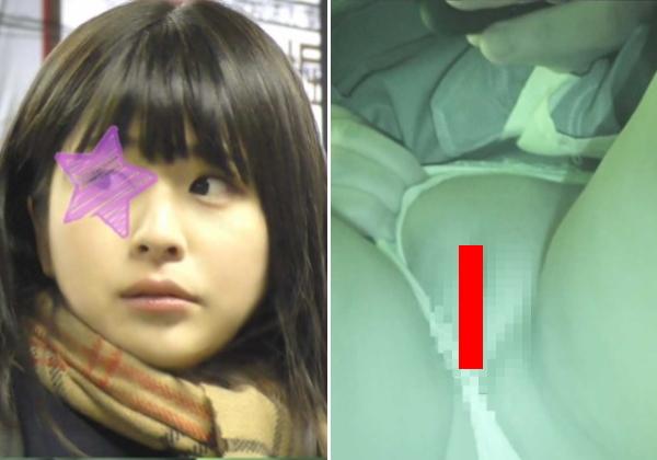 【【ガチ映像】日本のJKさん、盗撮犯にパイパンを撮影される・・・(動画)