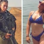 【エロ兵士】美しすぎるイスラエル軍女性兵士の軍服比較画像、ぜひ捕虜にして欲しいな!!(画像)