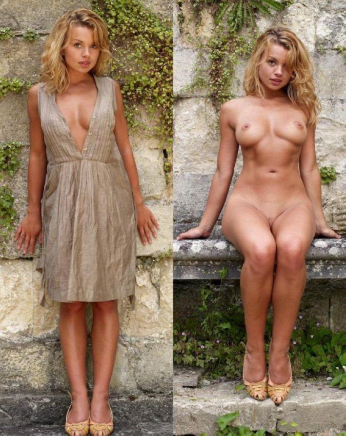 【自撮りヌード】外人素人まんさんの着衣ヌード比較画像、こいつ等自意識高すぎだろwwwwwwwww(画像)・3枚目