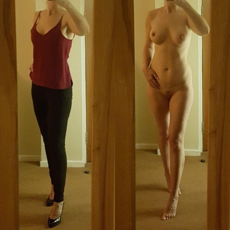 【自撮りヌード】外人素人まんさんの着衣ヌード比較画像、こいつ等自意識高すぎだろwwwwwwwww(画像)・7枚目