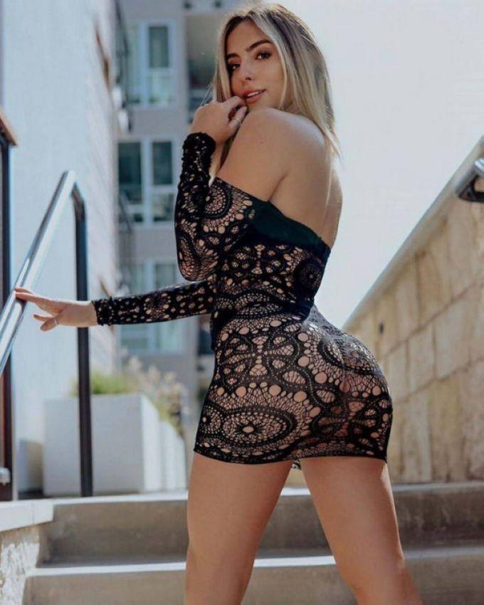 【二次】今海外の若い女性に人気なボディコンドレスのセクシー過ぎるエロ画像!!(画像あり)・25枚目