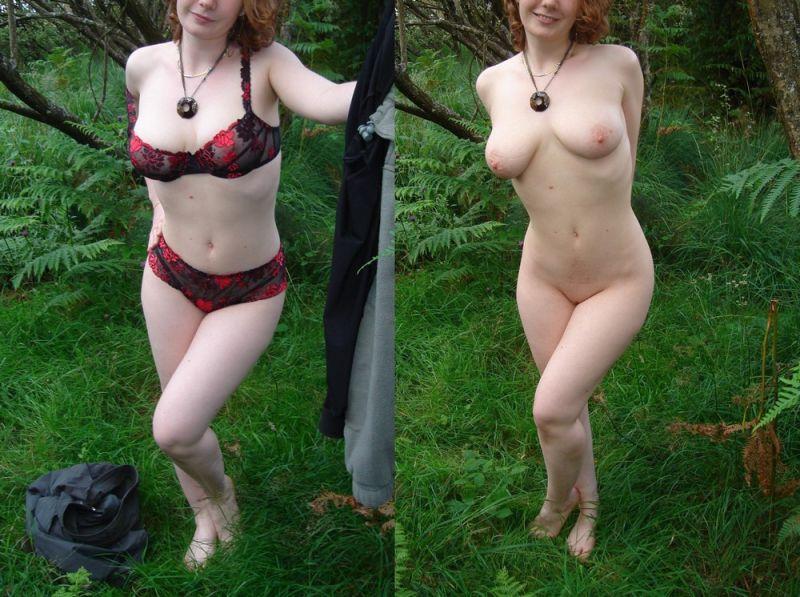 【保存推奨】海外のリア充ニキがネットにうpした彼女の着衣ヌード比較画像、糞エロい!!(画像)・8枚目