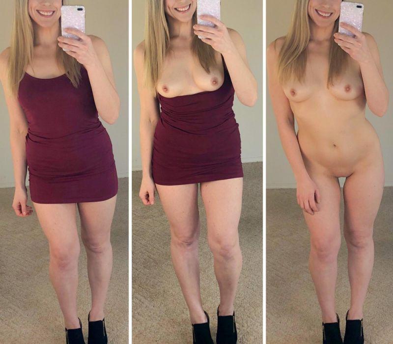 【保存推奨】海外のリア充ニキがネットにうpした彼女の着衣ヌード比較画像、糞エロい!!(画像)・17枚目