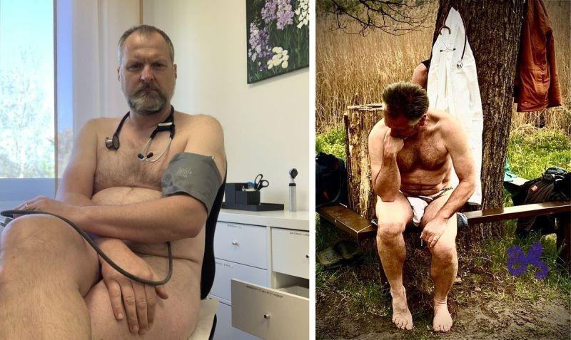 【ヌード女医】コロナでのマスク不足をアピールするために裸になるドイツの医師、馬鹿かな・・・?(画像)・9枚目